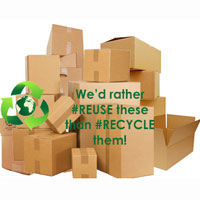 Boxes for moving or parcels? #reuse